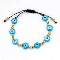 10pcs lot Turkish Eye Bracelet Women Summer Pulseras Mujer Moda Bracelets Jewelry Multicolor stackable Rope Adjustable Handmade