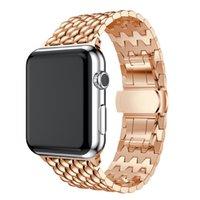 Gute Qualität Metallarmband Edelstahl-Bänder für Apple Watch Series 1 2 3 4 5 Ersatzband für Iwatch 38 40 42 44mm Uhrenarmband