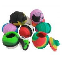 Contenedor de silicona estilo honeypot 35 ml de diseño de florero para concentrado de cera Durable resistente al calor Resistente al almacenamiento Pot Fumar Vape Jars