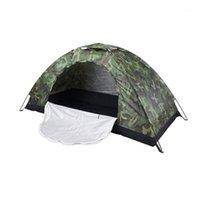 الخيام والملاجئ خيمة التخييم في الهواء الطلق المحمولة 1Person للماء قبة قبة التمويه للمشي