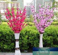 인공 벚꽃 봄 매화 복숭아 꽃 지점 실크 꽃 나무 웨딩 파티 장식 흰색 빨간색, 노란색, 핑크 색상