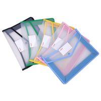 A4 حقيبة ملف شفاف سميكة تخزين مجلد مبكرة للماء مجلدات المستندات قدرة اللوازم المكتبية أكياس معلقة كبيرة جديدة
