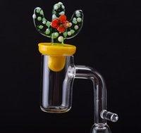 Quartz Banger Clou avec Cactus Casquette Capuchon Crochet Domeless DAB E Nail 2mm Bangers épaisseurs d'épaisseur de 16mm 20mm Installez-la