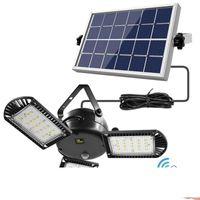 60 بقيادة الخفيفة للطاقة الشمسية 3 مصباح رئيس خفة قابل للتعديل مع التحكم عن بعد 2 4 6 الموقت في الهواء الطلق حديقة المصابيح الشمسية للماء