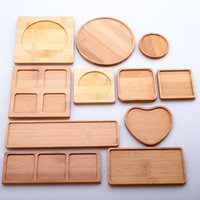 Creativo Natural Round Bambú Posavasos de madera Accesorios Hechos a mano Matera Home Table Tea Tea Coffee Pad