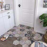 Silk Loop Mat Carpet Living Room Stain Resistant Washable Geometric Pattern Doormat PVC Home Outdoor Indoor Floor Doormat Carpet