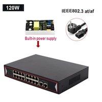 مفاتيح الشبكة 48V PoE Switch Ethernet 6 16 منافذ 10 / 100Mbps IEEE 802.3 AF / AT كاميرا IP Wireless APLINK