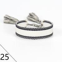 De alta calidad joyería de la marca de moda para Hombres Mujeres algodón hecho a mano bordado signture diseñador brazalete de la pulsera tejida telas de lujo