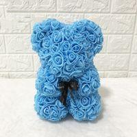 발렌타인 데이 선물 선물 창조적 인 인공 꽃 플라스틱 25cm 장미 곰 크리스마스 축제 선물 귀여운 장식 VTKY2173
