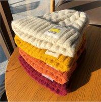 2021 NEW Winter Women Twist Knitted Hat Warm Pom Pom Fur ball Wool fleece lined Hat Skull Beanie Crochet Ski Outdoor Caps Beanies