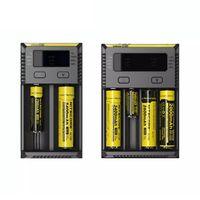 Nitecore Novo I4 I2 Digicharger LCD Circuito Inteligente Global 18650 Carregador de Bateria para 14500 16340 26650 Bateria Recarregável
