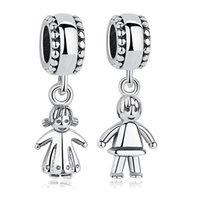 Andere schöne 925 Sterling Silber Perlen Kleines Mädchen Junge Baumeln Charme Fit Original Armband Anhänger Frauen DIY Schmuck