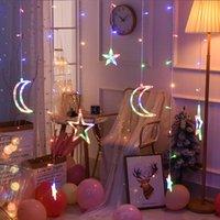 220 فولت الاتحاد الأوروبي التوصيل ستار ستار أضواء الستار 110 فولت الولايات المتحدة عيد الميلاد الجنية أكاليل في الهواء الطلق أدى توينكل سلسلة أضواء عطلة مهرجان الديكور