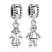 Andere schöne 925 Sterling Silber Perlen Kleines Mädchen Junge baumeln Charme Fit Original Armband Anhänger Frauen DIY Schmuck1