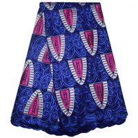 Ткань африканский швейцарский Voile кружева высокое качество для женщин платье последние вышивка WIHT камни хлопчатобумажные ткани1