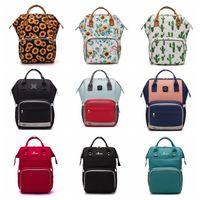 Designer Diaper Bags Grande Capacité maman Sacs à dos Oxford Sac à dos de maternité Waterproof Outdoor Voyage Mode Sac de tournesol DW6023