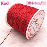 0,4 1.5 mm 10 metros de lotes cuerdas de nylon cuerda chino nudo macrame cordón pulsera trenzado cadena bricolaje tassel de abalorios hilo H jlllmm
