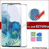 5D Kavisli Tam Kapak Temperli Cam Ekran Koruyucu Samsung Galaxy S21 Ultra S20 Note20 S10 Artı S8 S9 Note8 Not9 S10B Cam