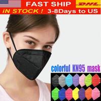 أزياء ملونة قناع الوجه أقنعة تصفية قابلة لإعادة الاستخدام 5 طبقات واقية الوجه تغطية للبالغين الأسود Mascherina DHL شحن FY0006