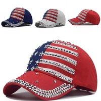 الرئيس الأزياء ترامب قبعات التطريز الكبار قبعة بيسبول الخماسية ستار الطباعة الولايات المتحدة الأمريكية العلم الوطني هات 10 9nx G2