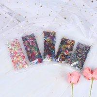 Nail Art Süslemeleri 10g / Paket Holografik Sequins Glitter Pul UV Jel Lehçe Kiraz Çiçekleri Yıldız Kendi Kendini Yapıştırıcı Sparkles DIY Dekorları