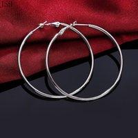 Диаметр 5 8 см Оптовая цена Женщины леди девушка большой круг серебряные серьги высококачественные моды классические украшения J580 H JLLRQS