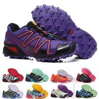 Salomon Speed Cross 3 4 حار بيع Speedcross 3 CS تريل أحذية رياضية خفيفة الوزن النساء احذية البحرية الأزياء III Zapatos P07 رياضي مقاوم للماء