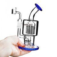 14 мм Banger Toro Glass Bongs Water Pipes Heady DAB Буровые установки Рециркулируют водяные бонги Курение Водяной Pippipe Dabber Shisha Cookahs 7.9 ''