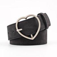 Olome vintage schwarz rot leder gürtel frauen herz schnalle 3,5 cm breite taille gürtel taillenband weibliche damengürtel für kleidjeans