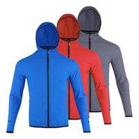 Vestes en cours d'exécution 2021 Automne et hiver Sportswear pour homme Séchage rapide Section mince Jacket à capuche Fitness Bodybuilding Nylon Sports