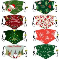 Christmas Party Masks For Adult Kid Xmas Face Mask Washable ...