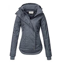 Fashion Asymmetrical Warm Windproof Windbreaker Basic Coat F...