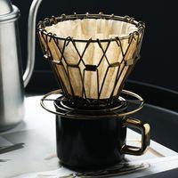 Drohoey Coffee Dripper Dobrável Chapéu De Café Estilo De Café Café Filtro de Filtro Copo Portátil Reutilizável Pourless Despeje sobre C1030