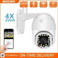 Бессмер 1080p Wifi PTZ IP-камера Открытый сигнал тревоги с сиреной светло облако автоматически отслеживая домашняя камера камеры видеонаблюдения CCTV LJ201211