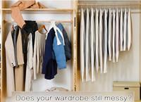 Clear Side-Open Brothes Borsa di stoccaggio per uso domestico Giacca giacca camicia cappotto polvere idraulico Protezione a prova di umidità BBYFSF Imballaggio2010