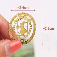 1pc Lindo Metal Gold Metal Moda Birdcage Crown Cat Clips Para Libros Papel Productos Creativos St Jllvso