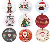 Adornos de árboles de Navidad Colgantes Decoraciones redondas Diez centímetros Diámetro Colgante Santa Claus Pequeño Regalo 3 5CZ I2