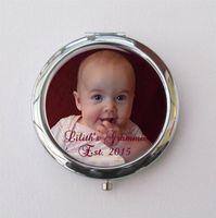 Персонализация любого текста или фото Компактное зеркало, бабушка подарок, настроить фото подарок для бабушки Дня мамы подарки подружки невесты