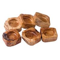 Eco Friendly Holz Aschenbecher Round Brown Ash Halter Rauch Zigarette Aschenbecher Brown Tasche Startseite CarAshtray IIA782