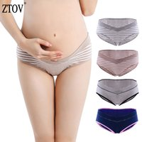 ZTOV 4pcs / lot Maternity Panties 임신 한 여자 임신 한 여성용 코튼 낮은 허리 팬티 반바지 의류 XXL LJ201119