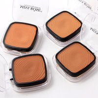 Makeup Professional Powder Foundation Mineral Waterproof Pressed Base Cosmetics Concealer Contour Palette for Dark Skin