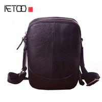 Sac à bandoulière en cuir de mode HBP Aetoo Casual, sac en cuir à la main pour hommes, sac de téléphone mobile simple simple