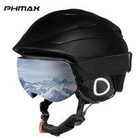 PHmax Skihelm Winter-Adult vollvergossenen Snowboard Helm Männer warm halten Sicherheit beim Skifahren Schnee Skating Kopf Schutz