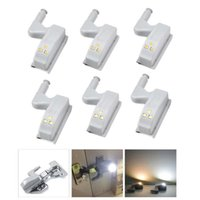 Evrensel Mobilya Dolap Dolap Dolap Menteşe LED Sensör Lambası Gece Işık Kapı Mutfak LED Ampul Enerji Tasarrufu Ev Işıkları