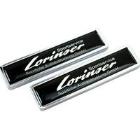 1 paire pour Mercedes Benz LorinSer Logo Badge Stickers Emblem Stickers pour GLK W124 W163 VITO GLE GLS SLK SMART FORTWO FORFOUR