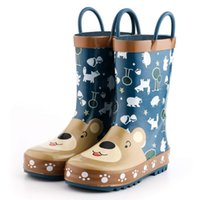 KushyShoo Rain Boots Kids Girls Waterproof Children' s R...