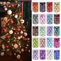 34pcs New Year Gift Merry Christmas Balls Xmas Home Party Ha...