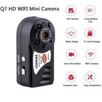 Q7 WiFi Мини камера 480P широкоугольный инфракрасного ночного видения с Шесть Фары Видеокамеры Комплекты для автомобилей Главная Мини Wecam Lens Sport DV