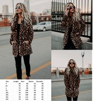 Autumn winter women faux fur leopard coat long sleeve fashio...