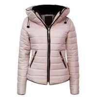 ZOGAA Ceket Kadınlar Coats Kış 2020-2021 Puffer ceketler Parka Bayanlar Marka Kapşonlu Coat Nedensel Slim Fit Katı Kadın Parkas
